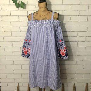 J Howard • New Blue Striped Dress Tunic Size 12